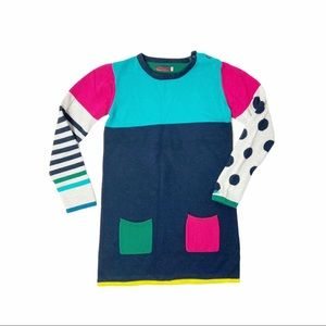 Catimini Colorblock sweater tunic/dress